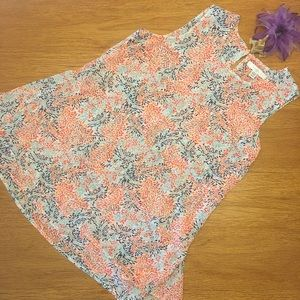 Fever sleeveless top. Multiple colored print SZ M